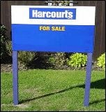 Real estate sign from corflute