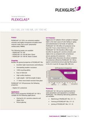 Plexiglass UV100