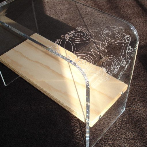 Art Style table fabricated from Plexiglas
